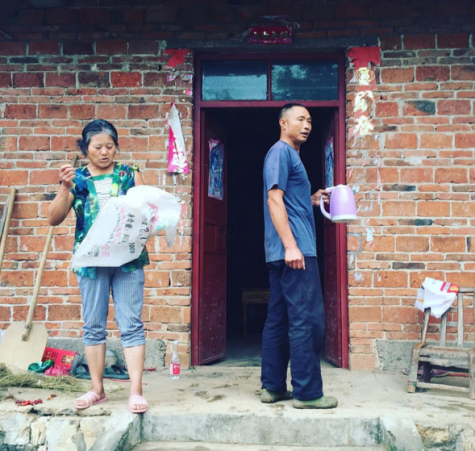 Yu Baojiang and Wang Dong'er are among the last to remain in their homes: Photo by C Larson